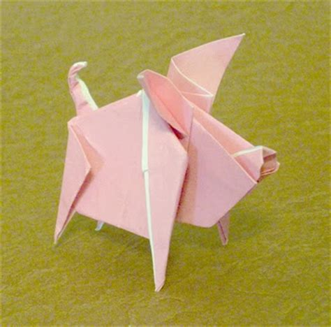 Origami Flying Pig - make easy origami make easy origami