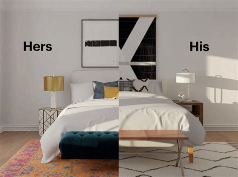 his and hers bedroom decor a marriage of styles creating a his hers bedroom