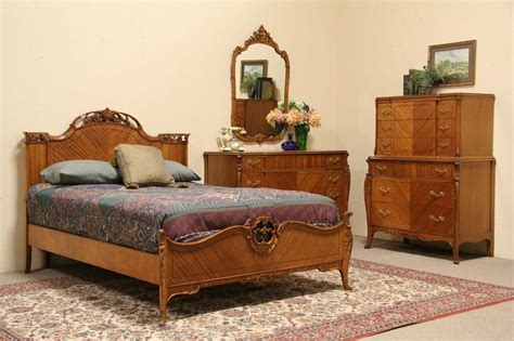 french style  vintage  pc full size bedroom set ebay