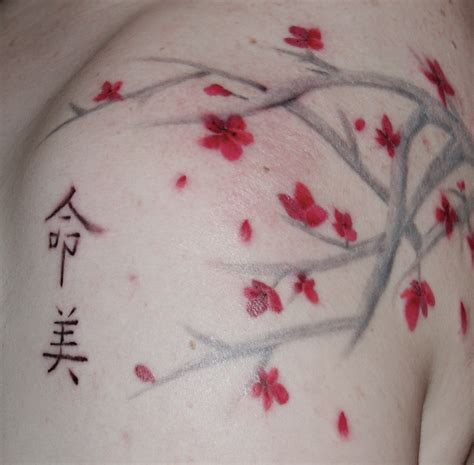 cherry blossom back tattoo cherry blossom back cherry cherries