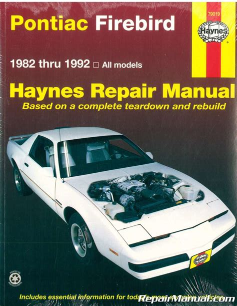 free service manuals online 1989 pontiac firebird navigation system haynes pontiac firebird 1982 1992 auto repair manual