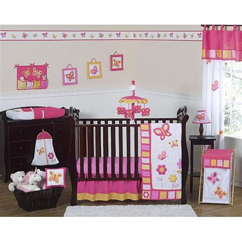 Crib Bedding Butterflies Sweet Jojo Designs Butterfly Pink And Orange Collection 11 Baby Crib Bedding Set Bedding