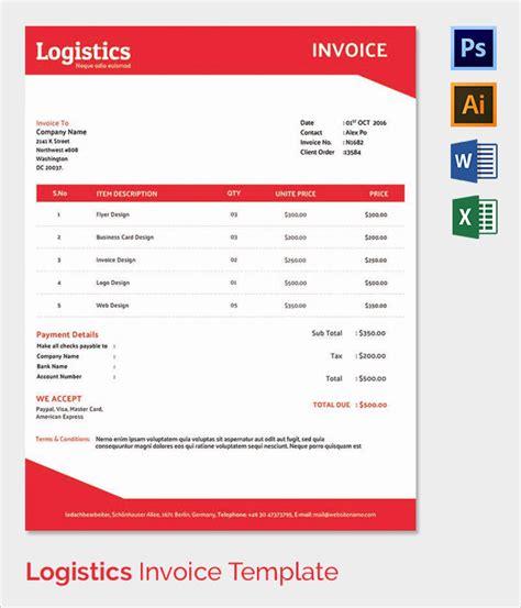 logistics invoice template 38 invoice templates free sle exle format