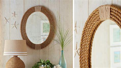 cornici como decorare uno specchio con una cornice fai da te in corda