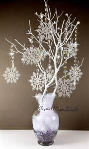 the 25 best ideas about snowflake centerpieces on