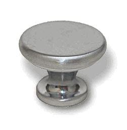 Knob Flat Chrome satin chrome knob flat 1 1 8 quot l p84061v sc c