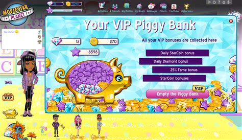 how do you get diamonds on msp what is piggy bank moviestarplanet