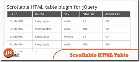 Simple Html Table 35 Amazing Jquery Tables