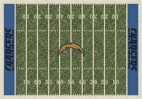 chargers home field san diego chargers home field area rug