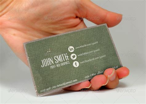 Business Cards With Social Media Info Template by Social Media Vintage Business Card By Nyz Graphicriver