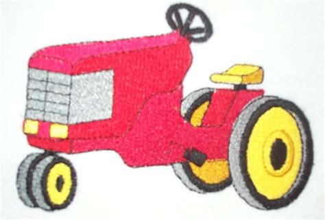 Origami Tractor - farm tractor embroidery designs 171 embroidery origami