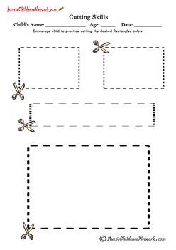 tracing cutting printable worksheets 53 best images about pre k cutting tracing worksheets on