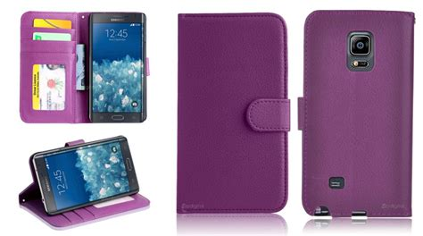 New 4in1 Smooth Leather 2249 2 purple wallet 4in1 accessory bundle kit cover for