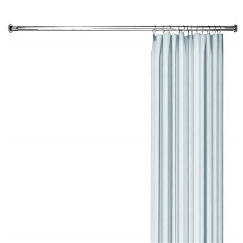 compression curtain rod straight shower rod with compression fit ends