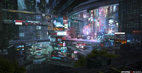 cyberpunk city concept environment sci fi concept art the city of the future cyberpunk futuristic city and