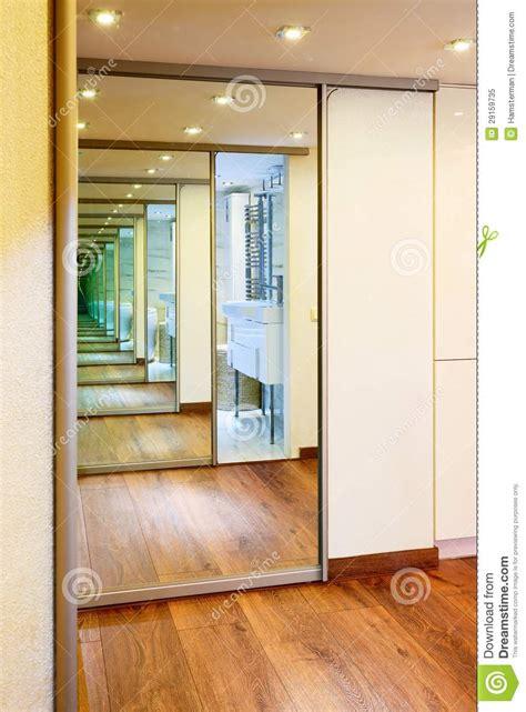 1 Bedroom Mobile Home Floor Plans sliding door mirror wardrobe in modern hall interior