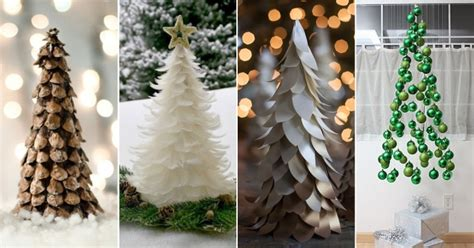 unconventional diy christmas trees