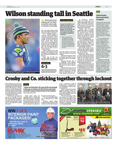 sports section from the sports section of today s toronto metro newspaper