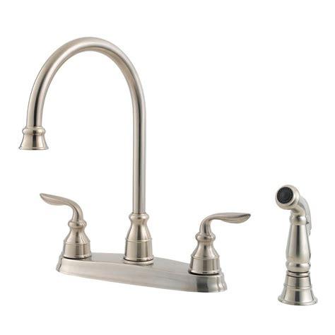 pfister kitchen faucets kitchen the home depot marielle pfister marielle single handle side sprayer kitchen faucet