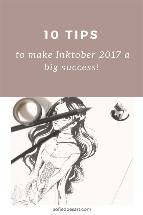 10 tips to make inktober 2017 a big success sofie does art