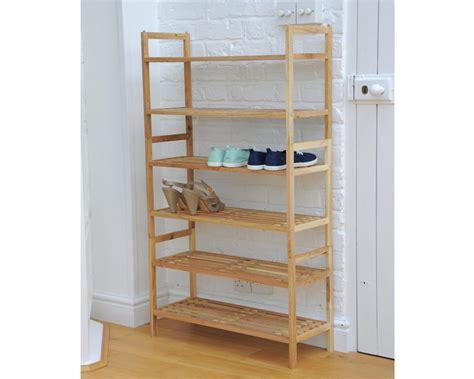 Birch Bookcases Stackable Shoe Rack In Walnut Futon Company