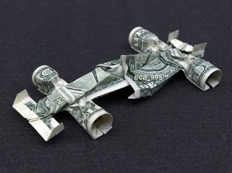 Dollar Bill Origami Car - formula 1 race car money origami vincent the artist