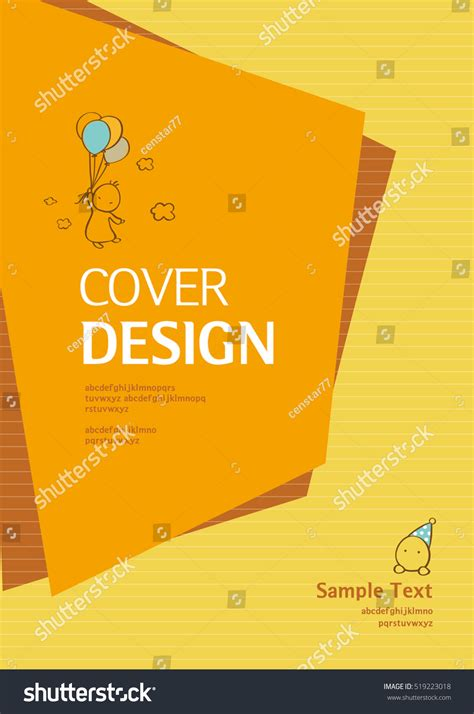 cover layout image book cover design vector template a4 stock vector