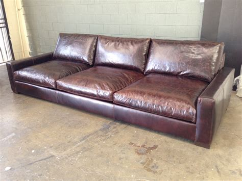 Brompton Leather Sofa 11ft Braxton Leather Sofa In Brompton Cocoa Mocha Custom Depth 50 The Leather Furniture