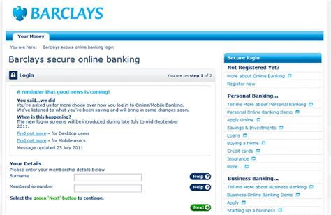 make a bank account barclays barclays changes to mobile banking login