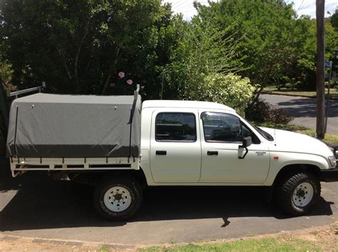 Hilux Awning by Ute Canopies Covers Wallaby Track Canvas