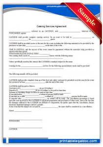 service delivery agreement template free printable catering services agreement form generic