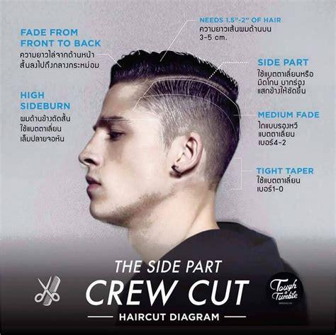 haircut diagram side part crew cut s undercut crew
