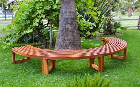 circular bench around tree miramar half circle tree bench foreverredwood