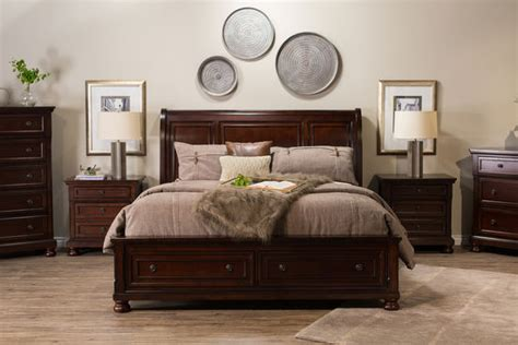 furniture sleigh bed with storage mathis brothers