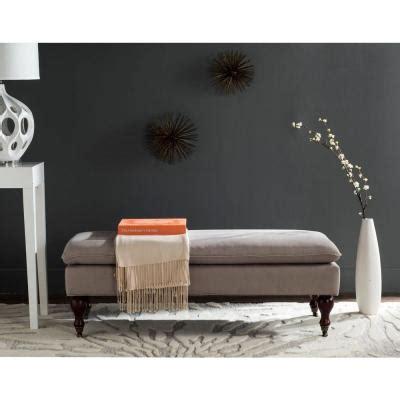 safavieh hampton pillow top bench  beige huda