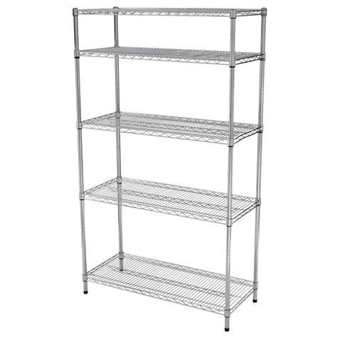 Hdx Shelf Storage Unit by Hdx 4 Shelf 72 In H X 36 In W X 16 In D Wire Unit In Black Price Tracking