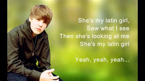 is latin girl by justin bieber on itunes youtube justin bieber latin girl hd lyrics full