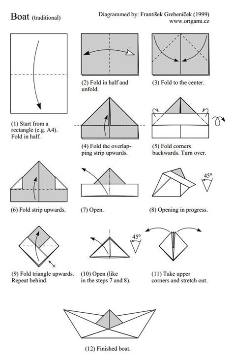 How To Fold A Sailor Hat Out Of Paper - het hoedje origami vouwen