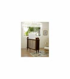 la baby size folding wood crib in espresso