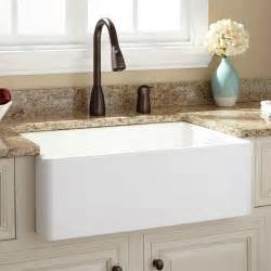 Kitchen Farm Sink Fireclay Farmhouse Kitchen Sinks Signature Hardware