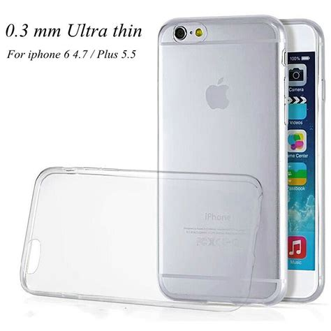 Ultra Thin Tpu For Iphone Iphone 6 Plus Casing Cover Aksesoris 1 0 3mm ultra thin tpu silicon gel clear for iphone6 6s plus 5 5 luxury slim soft back cover