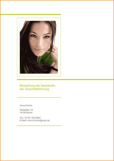 Bewerbung Mit Bildern 8 Lebenslauf Deckblatt Reimbursement Format