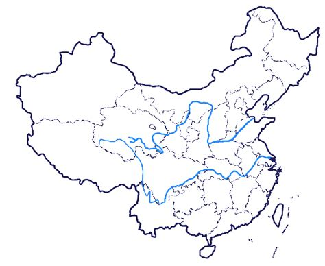 printable maps china china blank map blank map of china showing yangtze river