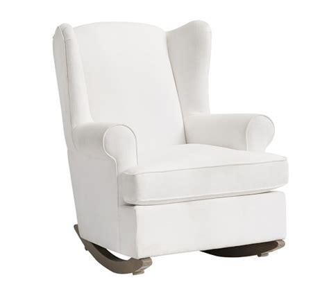 Convertible Ottoman Chair by Wingback Convertible Rocker Ottoman Pottery Barn