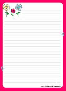 free letter pad printable