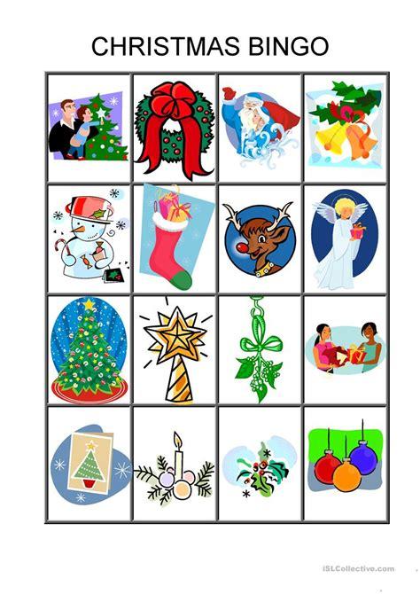 printable esl christmas games christmas bingo game worksheet free esl printable