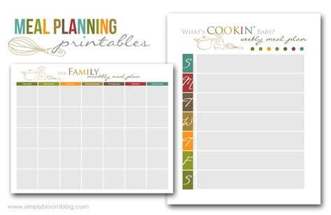 printable meal planner pages five fabulous free meal plan printables page 2 of 2