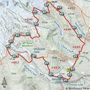 interactive oregon trail map hike 27 umbrella falls sahalie falls mt