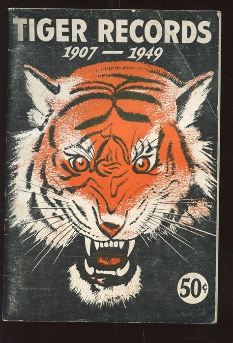 Detroit Records 1949 Detroit Tigers Records Booklet Vgex