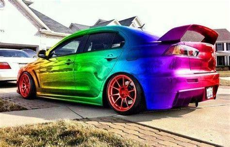 rainbow cars rainbow car car
